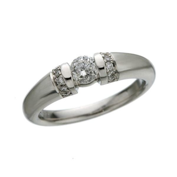 プラチナPt900 /0.28ctダイヤリング 指輪 7号