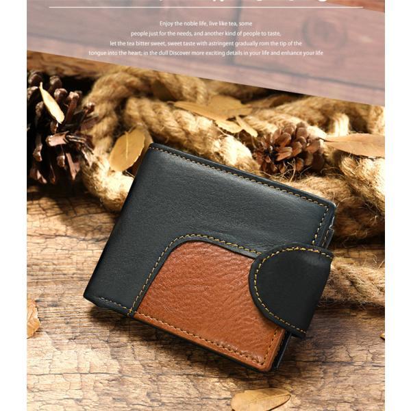 財布一流の財布職人が作る本革ブライドルレザー二つ折り財布メンズ小銭入れ付きPADA-258