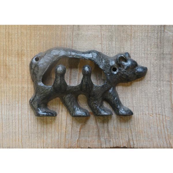 アイアンフック くま ネジ2本付 アンティーク 熊 bear iron DIY|paint-color-plaza|03