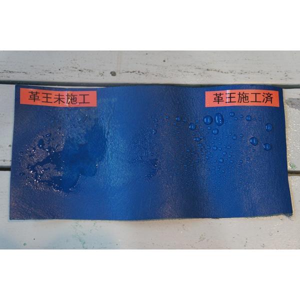 革王 革皮用 シリコン コーティング剤 無機 無溶剤 撥水 抗菌 防汚 防カビ 無臭 leather care コスモコーティング KWO-12-A01|paint-color-plaza|05