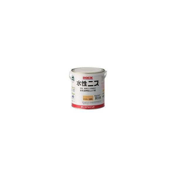 ロック水性ニス(透明つや有) 300ml (ロックペイント)