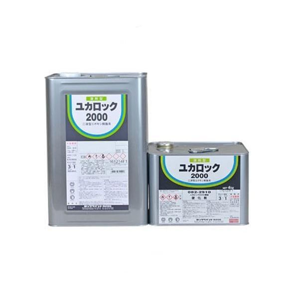 ユカロック2000番 カラーグレー  082-2119  主剤12kg  082-2910 硬化剤 4kg  【ロックペイント】|paintandtool