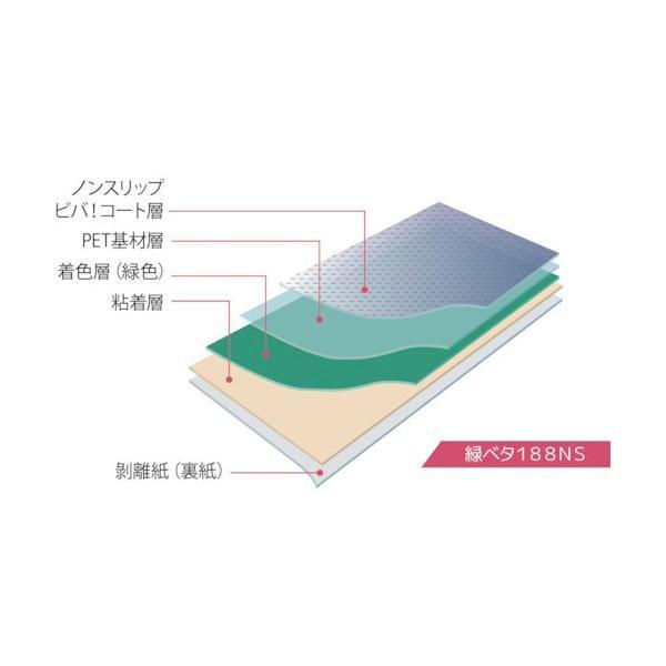 ビバ ビバフィルム(超耐久歩行帯)1000mm×3m グリーン ノンスリップ(TN188NSGL3)|paintandtool|05