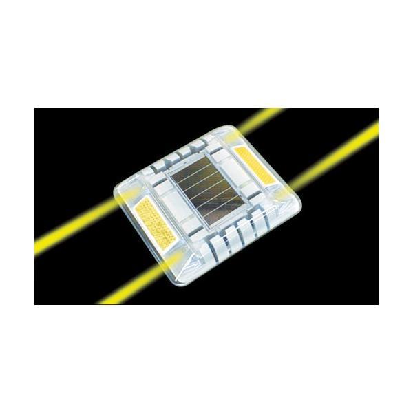 キャットアイ ルミナスアイ・マイティ ソーラー式常灯  両面 黄(LE2602A)|paintandtool