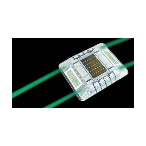 キャットアイ ルミナスアイ・マイティ ソーラー式常灯  両面 緑(LE2602G)|paintandtool