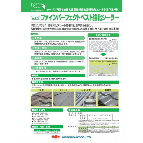 ニッペファインパーフェクトベスト強化シーラー14Kg日本ペイントターペン可溶1液住宅窯業屋根用含浸補強形エポキシ系下塗り材