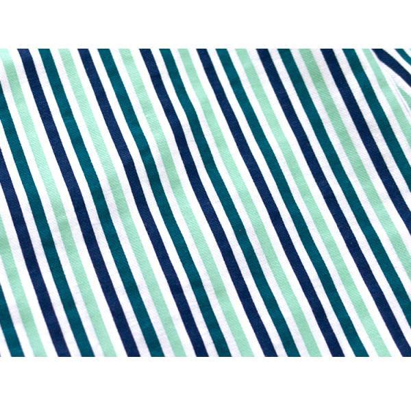 メンズ パジャマ 綿100% 春 秋 長袖 綿100% 前開き ストライプ柄 ブルー/グリーン M/L/LL おそろい|pajama|13