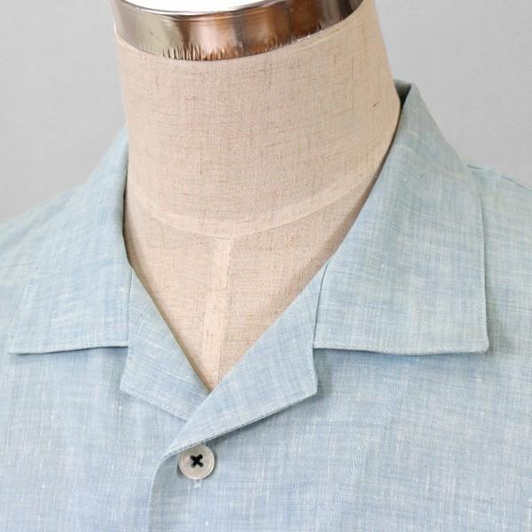 パジャマ メンズ 伝統の近江麻 リネン100%パジャマ 夏 長袖 テーラーカラー 前開き サラリとした肌ざわり上質リネン素材 日本製 送料無料 父の日 0511|pajamakobo-lovely|11
