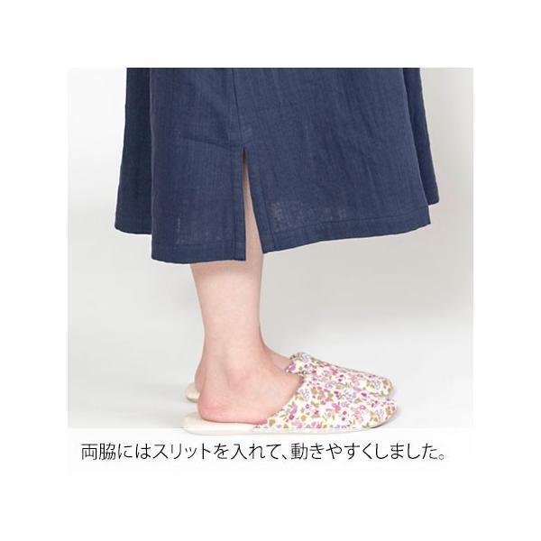 レディース ダブルガーゼ ワンピース 半袖 部屋着 春 夏 ルームウェア 綿 100% 日本製 ちきりんホームウエア 0610|pajamakobo-lovely|15