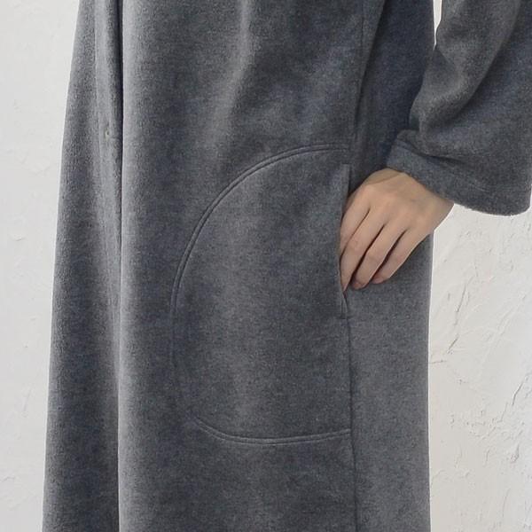 超あったかふわふわフリース ガウン パジャマ レディース 冬 ルームウェア もこもこの起毛 超軽量厚地フリース 日本製 0916 pajamakobo-lovely 09
