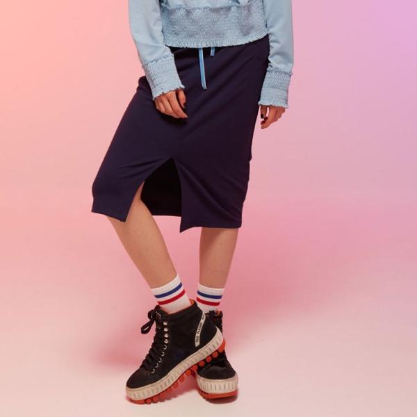 スカート レディース 春 ミモレ丈 ネイビー KLING クリング|pajamas