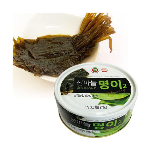 『トクドムヨク』山のにんにくミョンイナムル(170g・缶詰) 行者にんにく醤油漬け 漬物 おかず 惣菜 サム がサムギョプ サンチュ 巻く 韓国おかず 韓国食品