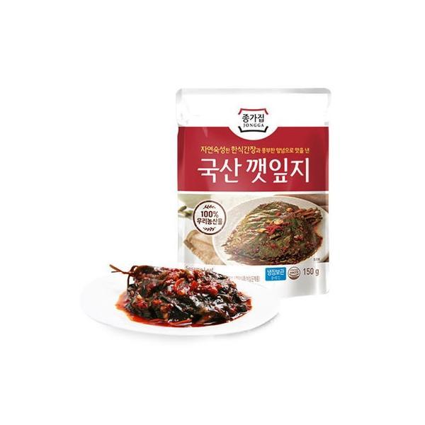 [冷蔵]『宗家』ケンニッキムチ|エゴマの葉キムチ(辛口タレ漬け・150g) チョンガ 韓国キムチ 韓国おかず 韓国料理 韓国食材 韓国食品