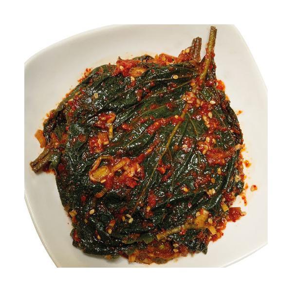 [冷凍]浅漬けえごまの葉キムチ(タレ漬け・300g) 漬物 惣菜 韓国おかず 韓国キムチ 韓国料理 韓国食材 韓国食品