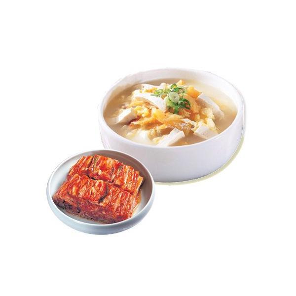[冷蔵]『韓国グルメ』プゴク+白菜キムチ (干したら200g+ダシダ100g+宗家白菜キムチ500g)  韓国料理 韓国食品