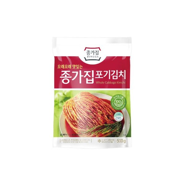 [冷蔵]『宗家』白菜 ポギキムチ(500g) チョンガ 白菜キムチ  韓国キムチ 韓国食材 韓国食品