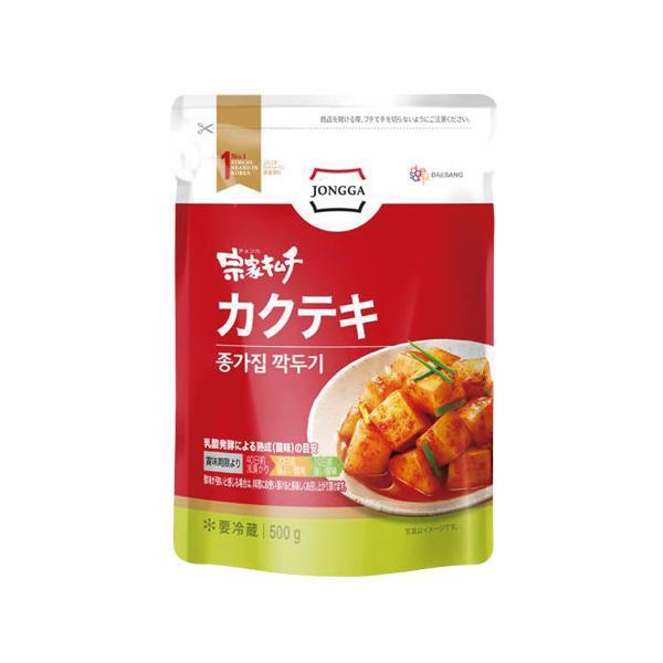 [冷蔵]『宗家』カクテキ|大根サイコロキムチ(500g) チョンガ 大根キムチ 韓国キムチ 韓国食材 韓国食品