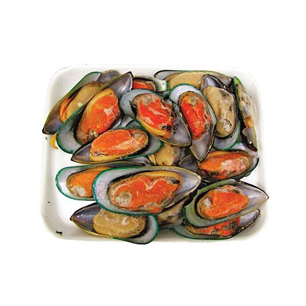 [冷凍]『海産物』パーナ貝 半皮付き(1kg)■ニュージーランド産 ムール貝 お鍋 海鮮鍋