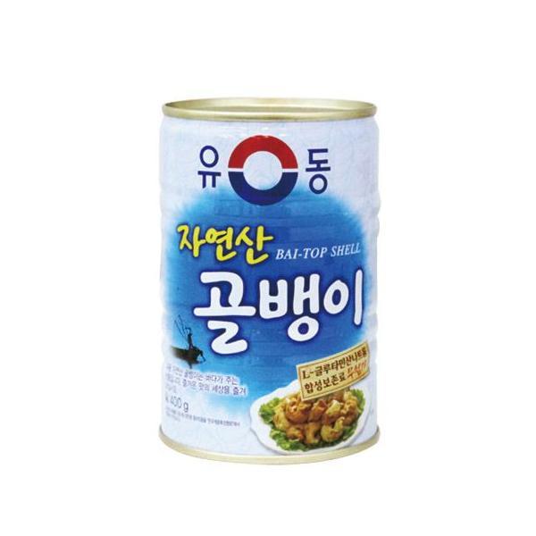 『ユドン』自然産つぶ貝缶詰(大・400g) 缶詰 韓国料理 韓国食材 韓国食品