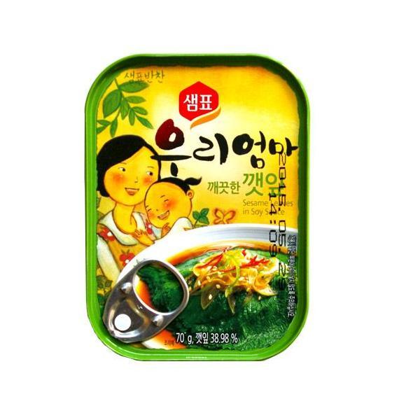 『センピョ』えごまの葉キムチ缶詰(70g) sempio 缶詰 韓国おかず 韓国料理 韓国食品