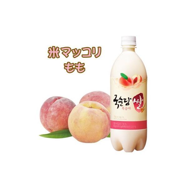 『麹醇堂』米マッコリ 桃味 (750ml)| リキュール(発酵酒) お酒 発酵酒 伝統酒 韓国お酒