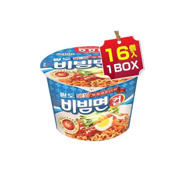 【まとめ買いがお得★1個当り210円】『Paldo』ビビン麺|カップ麺(1BOX=115g x 16個入) パルド 韓国ラーメン インスタントラーメン
