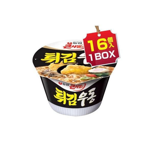 まとめ買いがお得 1個当り185円 『農心』天ぷらうどんカップ麺(1BOX=111g×16個入)カップラーメン韓国ラーメンイン