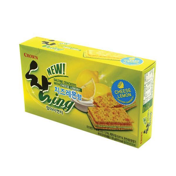 『CROWM』チャムING チーズレモン味(135g・9個入り) クラウン ラッカー フレッシュなクリーム 韓国お菓子 韓国食品
