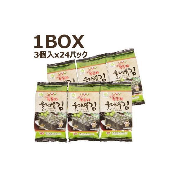 【まとめ買いがお得】『玉童子』オリーブ油 味付けのり(1BOX=3個x24パック)■1パック当り110円 オッドンジャ 韓国のり 韓国海苔 韓国料理 韓国食材 韓国食品
