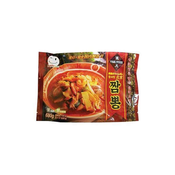 [冷凍]『ファミリーフーズ』王ソバン 北京ちゃんぽん(680g・辛口) ワンソバン北京チャンポン ラーメン 韓国料理