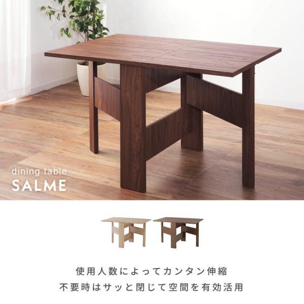 折りたたみテーブル ダイニングテーブル おしゃれ 120cm 食卓机 テーブル 木製 折りたたみ 伸張|palette-life|02