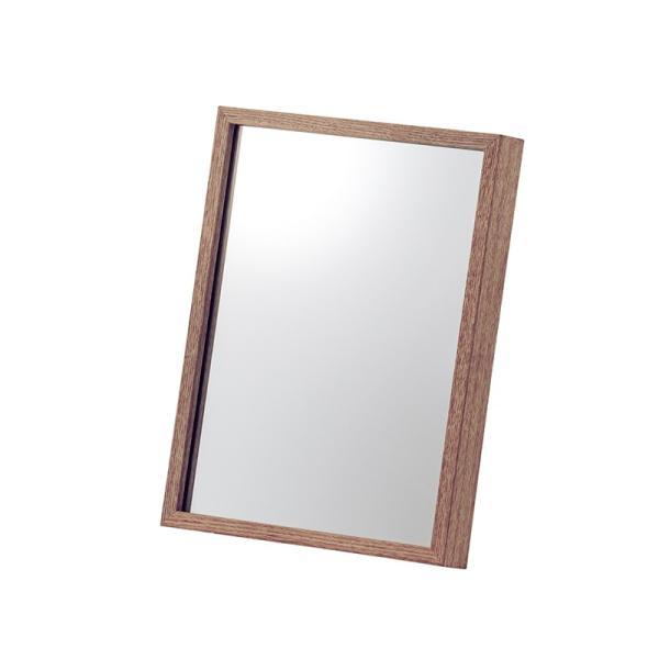 ミラー 鏡 卓上ミラー 飛散防止 シンプル 木製 おしゃれ|palette-life