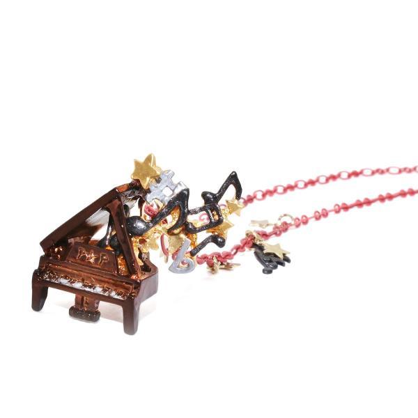 ピアノ 楽器 グランドピアノ 音符 ネックレス レディース ロング PalnartPoc ブランド パルナートポック直営 プレゼント ノクターンNo.2 ネックレス|palnartpocstore