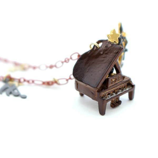 ピアノ 楽器 グランドピアノ 音符 ネックレス レディース ロング PalnartPoc ブランド パルナートポック直営 プレゼント ノクターンNo.2 ネックレス|palnartpocstore|06