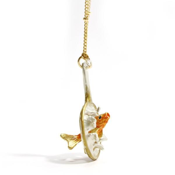 ロングネックレス ネックレス レディース 金魚 夏 PalnartPoc パルナートポック 公式 ブラフシューペリア プレゼント 金魚すくいネックレス|palnartpocstore|05