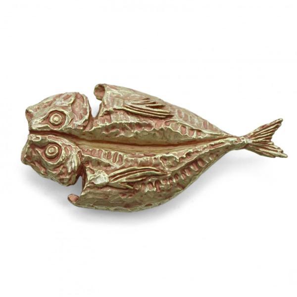 おしゃれな帯留め 魚 焼き魚 アジ 帯留め PalnartPoc直営 アクセサリー 可愛い ブランドパルナートポック直営店  アジ帯留め|palnartpocstore