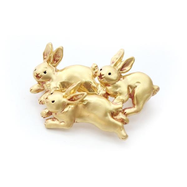 うさぎ 兎 ウサギ ピンブローチ レディース ロング PalnartPoc ブランド パルナートポック直営 プレゼント ぴょんぴょんブローチ|palnartpocstore