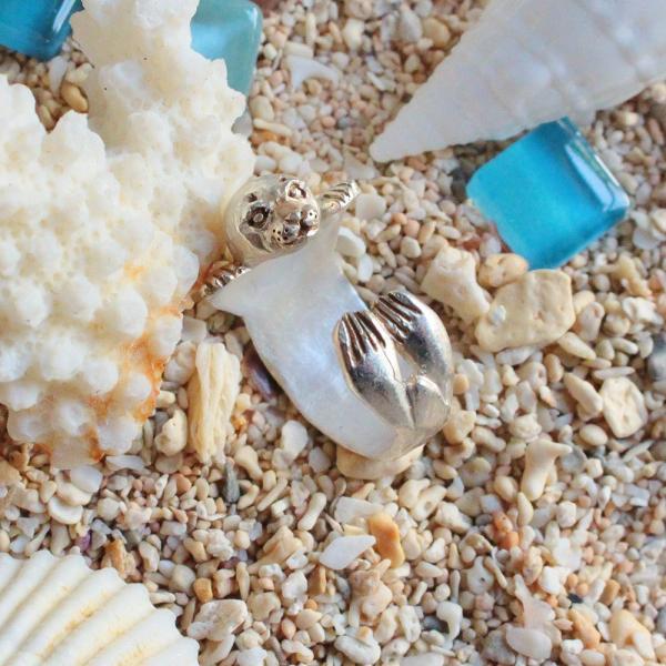 ゴマフアザラシ アザラシ 可愛い リング レディース 指輪 PalnartPoc ブランド パルナートポック直営 プレゼント アザラシリング|palnartpocstore