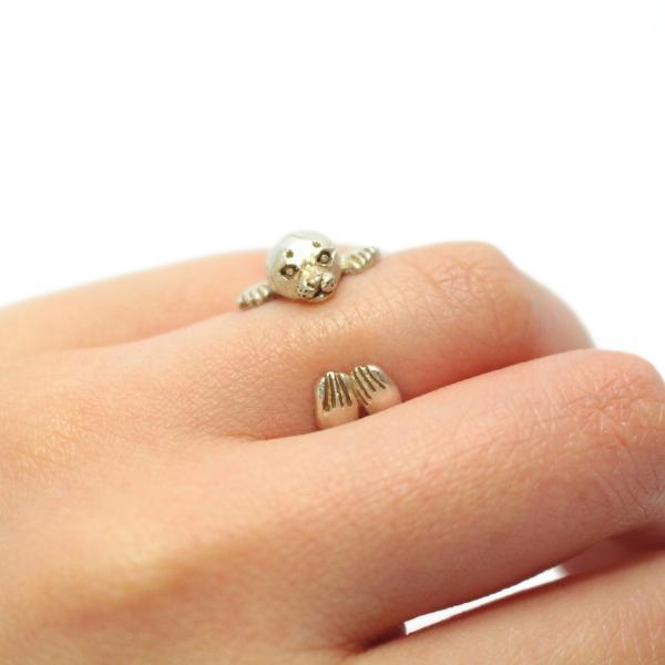 ゴマフアザラシ アザラシ 可愛い リング レディース 指輪 PalnartPoc ブランド パルナートポック直営 プレゼント アザラシリング|palnartpocstore|05