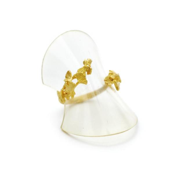 いちょう 秋 フリー シンプル 指輪 レディース リング PalnartPoc ブランド パルナートポック直営 プレゼント いちょうリング|palnartpocstore|02