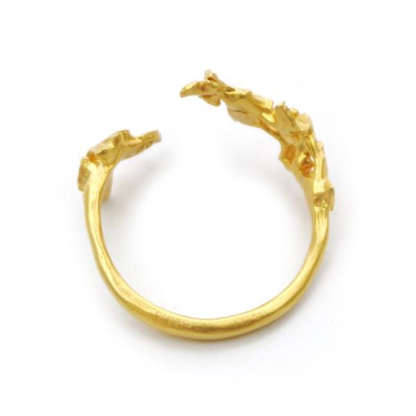いちょう 秋 フリー シンプル 指輪 レディース リング PalnartPoc ブランド パルナートポック直営 プレゼント いちょうリング|palnartpocstore|04