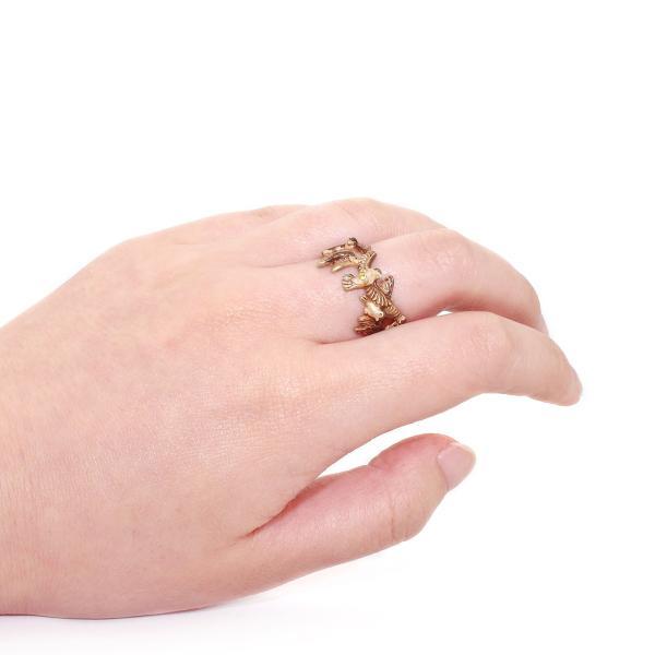 すずめ 雀 スズメ 指輪 リング 太め レディース PalnartPoc 11号 ブランド パルナートポック直営 プレゼント すずめリング|palnartpocstore|06