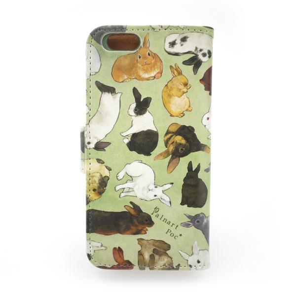 セール 半額  ポイント消化 ウサギ図鑑 iPhone6 iPhone5・SE ケースPalnartPoc 手帳 手帳型 アイフォン ケース カバー マグネット カード入 |palnartpocstore|02