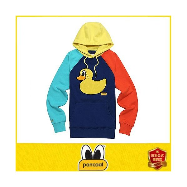 POPDUCK COLORATION HOODY E-1 FP TRUE BLUE Pancoat トレーナーフードT colorful カラフル アヒル フード付き 冬 Tシ パンコート|pancoat