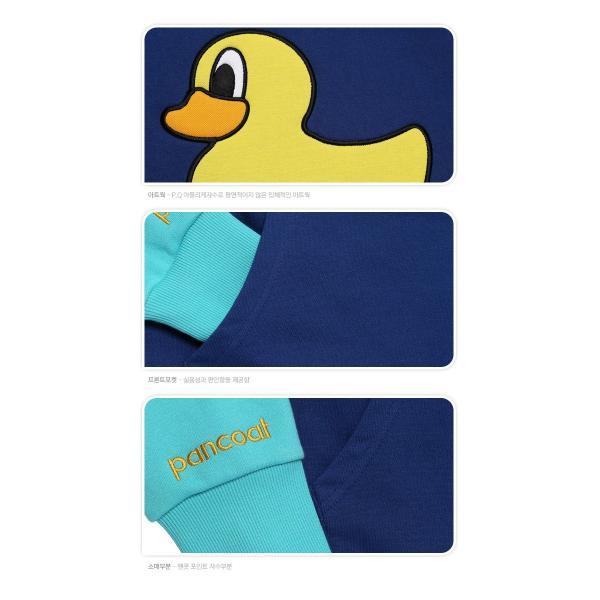 POPDUCK COLORATION HOODY E-1 FP TRUE BLUE Pancoat トレーナーフードT colorful カラフル アヒル フード付き 冬 Tシ パンコート|pancoat|04