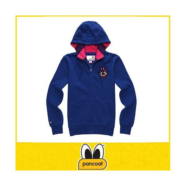 POPCHESHIRE 4D HOODIZIPUP A-5 HI TRUE BLUE パーカー パンコート キャラクター LONG T 長袖 耳付きパーカー アニマル パンコート|pancoat
