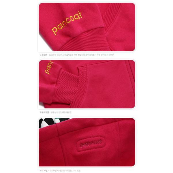 POPRABBIT 4D HOODY ZIPUP A-5 HI FLAMINGO PURPLE パーカー パンコート キャラクター LONG T 長袖 ポンポン付きパーカ パンコート|pancoat|04