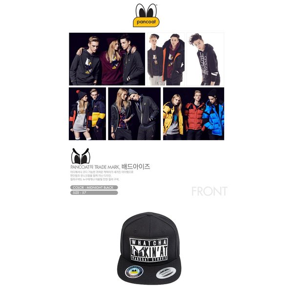 POANCOAT パンコート BADEYES STREET WAPPEN SNAPBACK CAP FA MIDNIGHT BLACK キャラクター 夏 メンズ レディース 帽子|pancoat|02