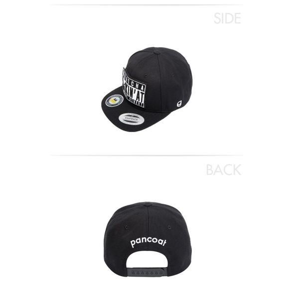 POANCOAT パンコート BADEYES STREET WAPPEN SNAPBACK CAP FA MIDNIGHT BLACK キャラクター 夏 メンズ レディース 帽子|pancoat|03