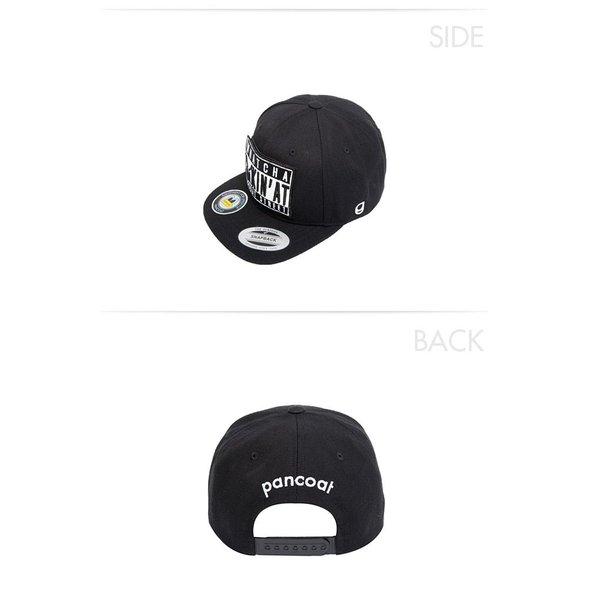 POANCOAT パンコート BADEYES STREET WAPPEN SNAPBACK CAP FA MIDNIGHT BLACK キャラクター 夏 メンズ レディース 帽子|pancoat|04